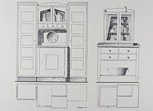 Vorbildliche Schlafzimmer- und Küchenmöbel. 40 Tafeln: Schliebener, W.