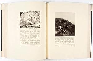 Rembrandt-Bibel. Vier Teile in einem Band, mit 240 Abbildungen und zwanzig Gravüren, gewählt und ...