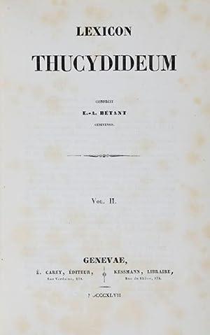 Lexicon Thucydideum: Betant, Elie Ami