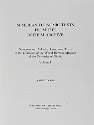 Sumerian Economic Texts from the Drehem Archive: Kang, Shin T.