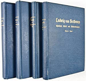 Ludwig van Beethovens sämtliche Briefe und Aufzeichnungen. 4-vol. set (Missing volume 5): ...