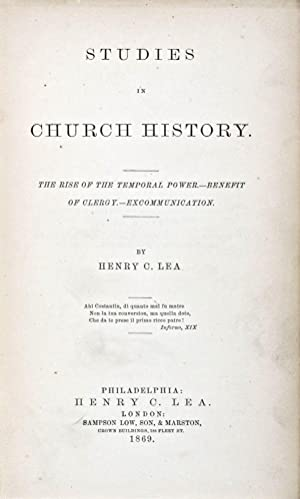Studies in Church History: The Rise Of The Temporal Power - Benefit of Clergy - Excommunication: ...