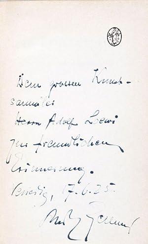 Das Lorleilied: Elfenstück mit Farbenballett [INSCRIBED AND SIGNED BY THE AUTHOR]: Kellner, ...