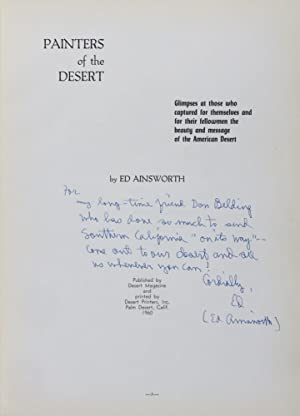 Painters of the Desert [INSCRIBED & SIGNED]: Ainsworth, Ed