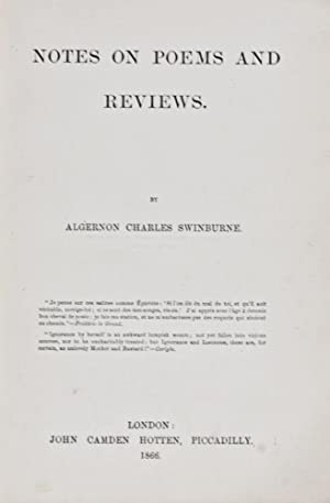 Notes On Poems And Reviews: Swinburne, Algernon Charles