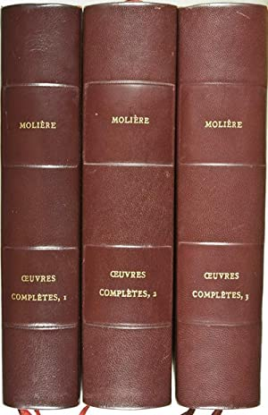 Oeuvres Completes. 3 Vols. (Complete): Moliere