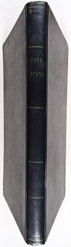 Talmud Babli - Babylonischer Talmud Tractat Berachoth Segensprüche. Mit deutscher Uebersetzung und ...