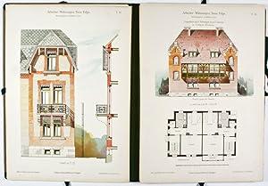 Arbeiter-Wohnungen. Neue Folge. Ausgeführte Gebäude enthaltend Wohnungen von zwei und ...