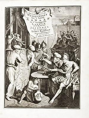 Kanaän en d'Omleggende Landen, vertoont in een woordenboek uit de h. schrift en Josephus,...