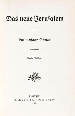 Das Neue Jerusalem: Ein jüdischer Roman: n/a