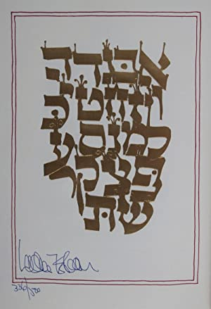 Sefer Otiyot] The Book of Letters: A Mystical Alef-Bait [SIGNED AND NUMBERED BY THE AUTHOR with a ...