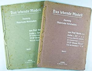 Das lebende Modell. Zwanzig Malerische Aktstudien. Band I & Band II. 2 vols. (complete): Von ...