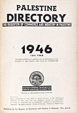 Palestine Directory 1946: The Register of Commerce and Industry in Palestine: n/a
