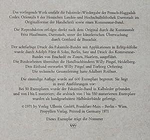 Die Darmstädter Pessach - Haggadah, codex orientalis 8 der hessischen Landes- und ...