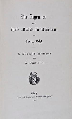 Die Zigeuner und ihre Musik in Ungarn: Liszt, Franz
