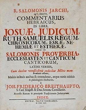 R. Salomonis Jarchi, Dicti Commentarius Hebraicus, in: Rabbi Salomon Jarchi