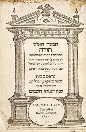 Hamishah Humshe Torah Parishiyotav Petuhot U-Setumot Nevi'im Rishonim Ve-Aharonim: Ben Israel, ...