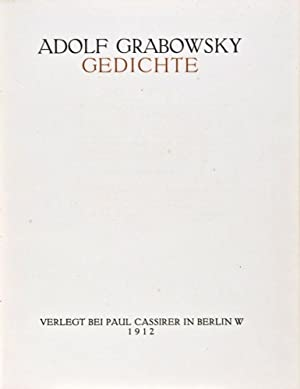 Three Adolf Grabowsky Works: Grabowsky, Adolf