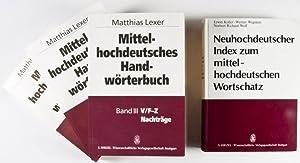 Mittelhochdeutsches Handwörterbuch + Neuhochdeutscher Index zum mittelhochdeutschen Wortschatz...