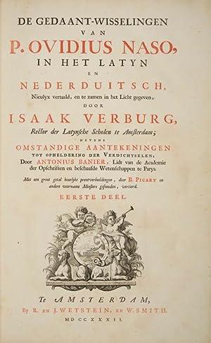 De Gedaant-Wisselingen Van P. Ovidius Naso, in Het Latyn en Nederduitsch, Nieulyx vertaald, en te ...