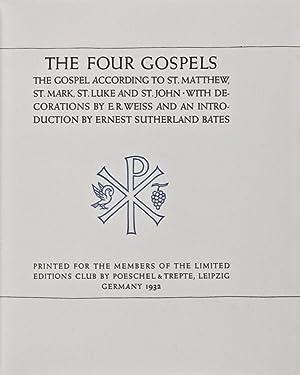 The Four Gospels: The Gospel According to: Weiss, E.R.; Ernest
