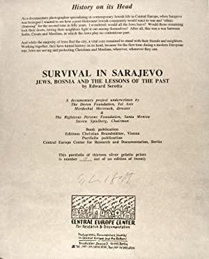 Survival in Sarajevo: Jews, Bosnia and the Lessons of the Past [SIGNED]: Serotta, Edward