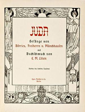 Juda: Gesänge von Börries, Freiherrn von Münchhausen mit Buchschmuck von E. M. ...