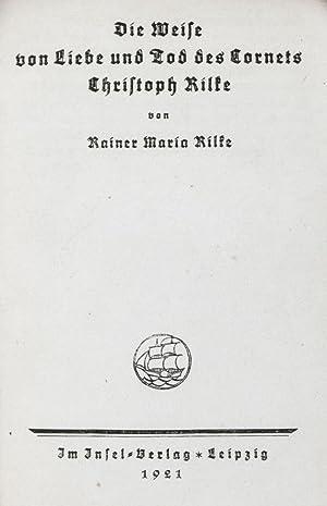 Die Weise von Liebe und Tod des Cornets Christoph Rilke [RARE FULL LEATHER EDITION]: Rilke, Rainer ...