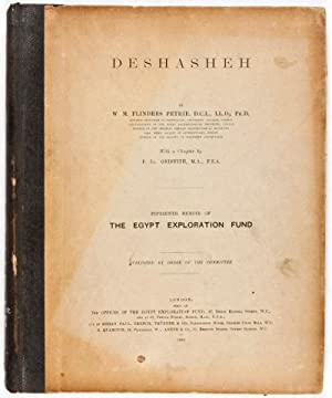Deshasheh 1897 (Fifteenth Memoir of The Egypt Exploration Fund): Petrie, W. M. Flinders (Text by); ...