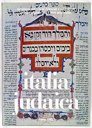 Italia Judaica: Atti del I Convegno internazionale, Bari 18-22 maggio 1981: Colorni, Vittore; ...