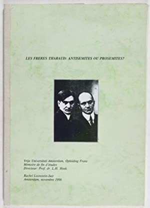 Les Frères Tharaud: Antisémites ou Prosémites ? (With Signed Handwritten ...
