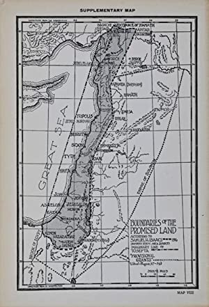 The True Boundaries of the Holy Land as described in Numbers XXXIV: 1-12 Solving the many ...