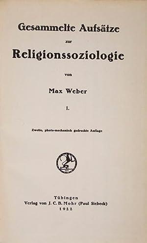 Gesammelte Aufsatze zur Religionssoziologie. 3 Vols: Weber, Max