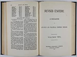Revised Esoteric: A Magazine of Advanced and Practical Esoteric Thought: Butler, H. E. (ed.)