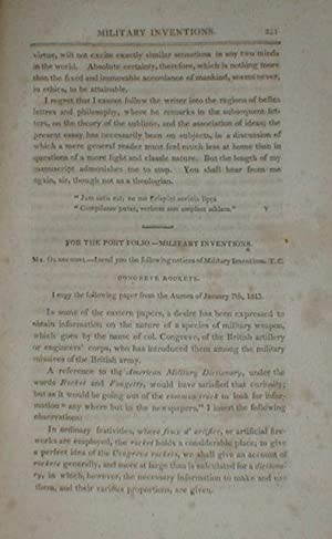 The Port Folio: Oldschool, Oliver [pseudonym JOSEPH DENNIE]