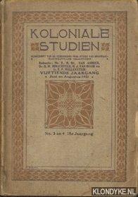 Koloniale Studiën; Tijdschrift van de Vereeniging voor: Asbeck, F.M. van