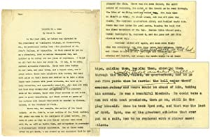 "Original Typescript of ""Tribute to a Hero"": CAIN, James M."