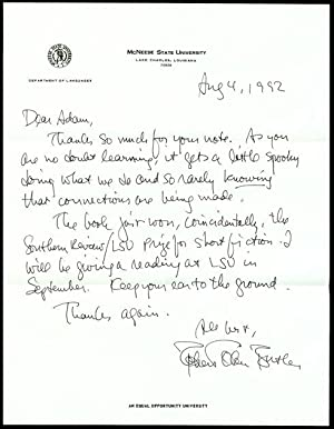 Autograph Letter Signed: BUTLER, Robert Olen