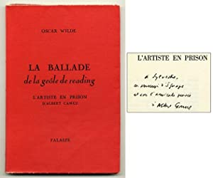 La Ballade de la geôle de reading [The Ballad of Reading Gaol] [Inscribed by Camus]
