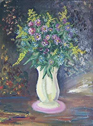 Bouquet In White Vase
