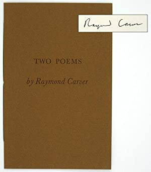 Two Poems [One of 26 Copies, Signed]: CARVER, Raymond