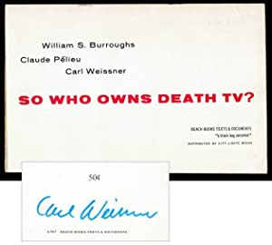 So Who Owns Death TV?: BURROUGHS, William S.