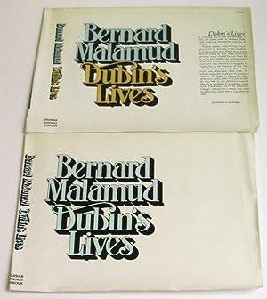 Proof Dust Jacket for Dubin's Lives: MALAMUD, Bernard