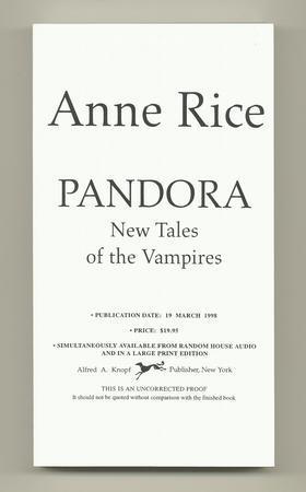 Pandora: RICE, Anne