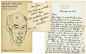 Henry Miller: Expatriate: MILLER, Henry). BAXTER,