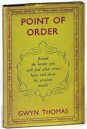 Point of Order: Thomas, Gwyn