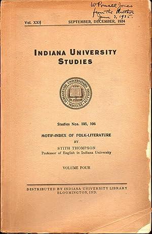 Motif Index of Folk LIterature Volume Four J-K: Thompson, Sith