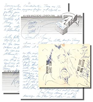 Two page Holographic Letter on the Artist's Stationary With an Original Sketch of Charles ...