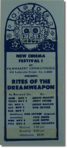 New Cinema Festival I at Filmmaker's Cinematheque: Angus MacLise] [Jerry