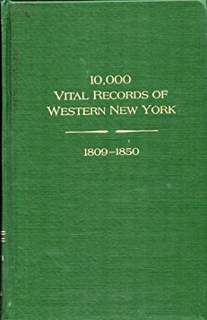 10,000 Vital Records of Western New York, 1809-1850